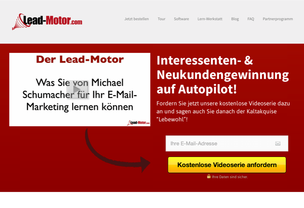Lead-Motor Hauptseite